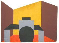Laszlo Peter Peri, 'In front of the table', MoMA, NY, tempera on board, 1921 Constructivism, Abstraction, Art Bauhaus, New Objectivity, Amsterdam School, Magic Realism, Constructivism, Harlem Renaissance, Tempera, Cubism, Moma