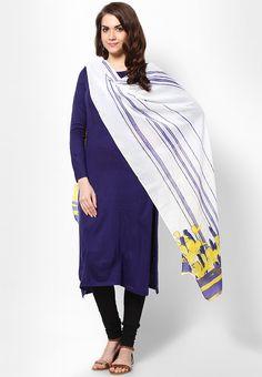 Blue Printed Cotton Dupatta $22.80 (24% OFF)  https://www.dollyfashions.com/w-blue-printed-cotton-dupatta-3000408119.html