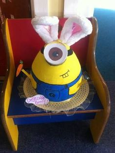 Best Easter bonnet this year! Easter Bonnets For Boys, Easter Bunny, Easter Eggs, Crazy Hat Day, Crazy Hats, Easter Hat Parade, Batman Party, Easter Crafts, Easter Ideas