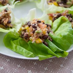 quinoa black bean lettuce wraps