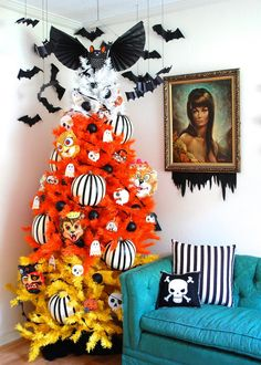 How to Decorate a Halloween Tree | Entertaining - DIY Party Ideas, Recipes, Wedding & Baby Showers | DIY