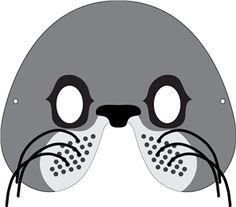 seal mask coloring pages - photo#8