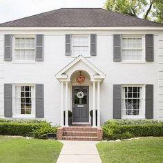 White House Gray Shutters & matching door...a little boring...