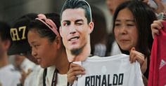 Cristiano Ronaldo gives the fans in China what they came to see.