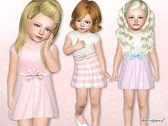 Little lady dress for toddlers by Lillka - Sims 3 Downloads CC Caboodle