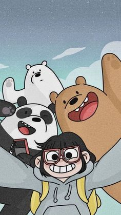 Cute Panda Wallpaper, Bear Wallpaper, Emoji Wallpaper, Cute Disney Wallpaper, Kawaii Wallpaper, Cute Wallpaper Backgrounds, Aesthetic Iphone Wallpaper, We Bare Bears Wallpapers, Panda Wallpapers