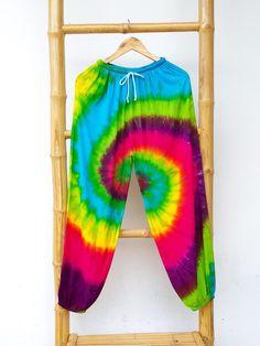 Colorful Tie Dye Pants Reggae Pants Summer Beach Pants | Etsy Hippie Pants, Boho Pants, Hippie Boho, Tie Dye Pants, Tie Dye Skirt, Purple Skirt, Beach Pants, Gypsy Skirt, Reggae