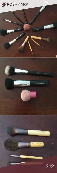 Makeup Brush Bundle! Most of these haven't been used!  All of them have been sanitized.  Will seperate if you bundle with another item. Bareminerals foundation brush, kabuki brush, Ecotools set, Mineral Allure brush set, Elizabeth Arden brush, Lancome eyeshadow brush.   All offers considered.   Just selling to make some Christmas money! Makeup Brushes & Tools