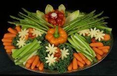 Image result for vegetable tray arrangement
