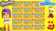 Shopkins Happy Places Kitty Kitchen, Bathing Bunny, Dreamy Bear and Lil ...