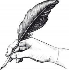 Hand drawing with a feather pen © Stanislav