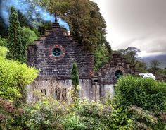 House at the Victorian Walled Garden which belongs to Kylemore Abbey near Galway, Ireland