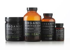 Kiki Health Natural Food Supplements on Packaging of the World - Creative Package Design Gallery Organic Supplements, Weight Loss Supplements, Jar Packaging, Medicine Packaging, Benefits Of Organic Food, Hcg Diet, Packaging Design Inspiration, Organic Recipes, How To Stay Healthy