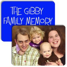 The Gibby Family Memory Game is a memory matching game (like Concentration) created by Curtis Gibby.  It has the following match cards: Family Portrait, Our new house, Audrey, Halloween, Hawaii Vacation, Nathan swinging, Sarah, Nathan, Christmas 2009