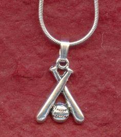 Juzii Jewelry - Cute SOFTBALL BATS and BALL Necklace, $10.66 (http://www.juzii.net/softball-bats-and-ball-necklace/)