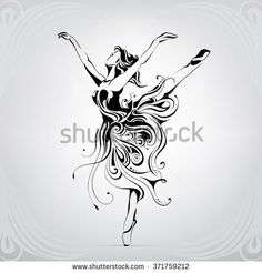 Silhouette of the ballerina in an ornament