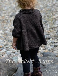 KNITTING PATTERN-The Billow Cardigan 2/3 4/5 6/7 por Thevelvetacorn