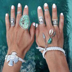 Kimono| Hat (similar)Bodychains | Bikini | Necklace | Kimono | Rings – Seawolf | Aloha Gaia | Embella | Ernest & Joe | Arrow DivineBikini | Belt | Hat (similar) | Top | Concho bracelet | Rings – Embella + Sun ring Concho bracelet + Bandit bracelet | Rings – Embella + Sun WrapRing Playsuit …