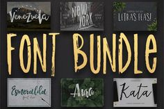 Font BUNDLE - 12 fonts! 78% OFF by Latin Vibes on @creativemarket