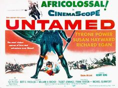 """Julie Reviews Tyrone Power in """"Untamed"""" (1955)......Uploaded By www.1stand2ndtimearound.etsy.com"""