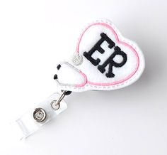 Badge holder nurse gift healthcare fish Badge reel Feltie crayons,teacher badge reel badge clip