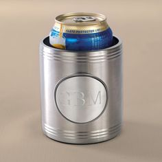 Personalized Chrome Beverage Cooler for Groomsmen | #exclusivelyweddings | #groomsmengifts