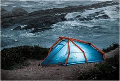 The Wedge inflatable tent from Heimplanet (€449.00), comfortably sleeps 2 adults and their luggage, can be pitched quickly by inflating it. No assembly required.  ................Really cool til it deflates in the middle of a storm. I would not trust this in a critical situation.     Read more