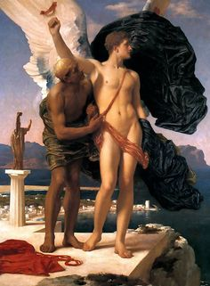 Daedalus and Icarus Frederic Lord Leighton 1869