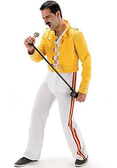 Freddie Mercury Fancy Dress, I Will Rock You Costume Costumes For Sale, Boy Halloween Costumes, Adult Costumes, 80s Costume, Costume Ideas, Xmas Fancy Dress, Pop Star Fancy Dress, Rock Star Outfit, Full Body Costumes