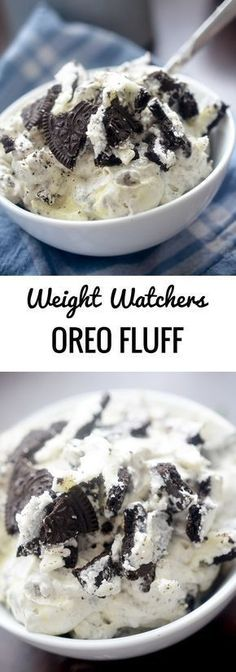 Oreo Fluff - Recipe Diaries make delicious recipes. Eat in the kitchen easily and quickly. Weight Watchers Desserts, Plats Weight Watchers, Ww Desserts, Healthy Dessert Recipes, Ww Recipes, Healthy Desserts, Weight Watchers Fluff Recipe, Cake Recipes, Recipies