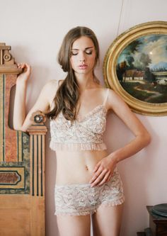 Sexy-Classy Bridal Lingerie to Wear on Your Wedding Night - Colette Bralette by Claire Pettibone