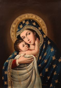 Mother Mary and Christ Child Lady Madonna, Madonna Art, Madonna And Child, Blessed Mother Mary, Divine Mother, Blessed Virgin Mary, Religious Icons, Religious Art, Virgin Mary Art