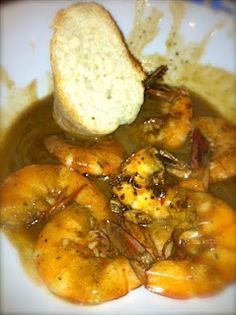 Mr B's BBQ Shrimp..num num.... going make BBQ Shrimp Linguine tonight.... I'm EXCITED!!!!