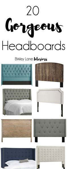Looking for some headboard inspiration? Good luck choosing a favorite from these 20 gorgeous headboards. Click here and search no more! Headboard, headboard ideas, headboards for beds, affordable headboards