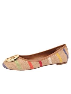 Summer Rainbow --for the Tory Burch fans out there. Beachy take on her classic flat!