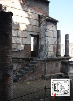 Pompeii: Temple of Isis (access to the cella)