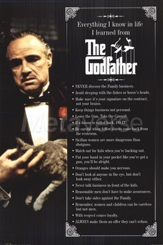 The Godfather quotes.