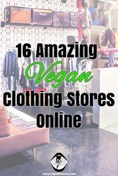 Vegan Products... 16 Amazing Vegan Clothing Stores Online
