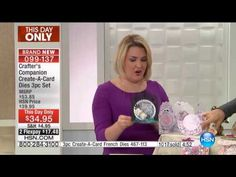 The 3piece CreateACard Garden Dies shown on the Home Shopping Network (HSN) Find out more at…