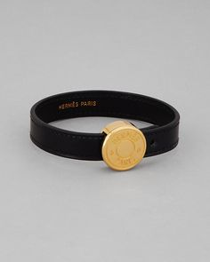Hermes Leather Coin Bracelet