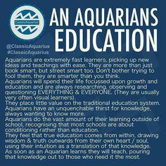 aquarius & education