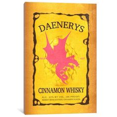 "Mercury Row Daenerys Cinnamon Whisky Vintage Advertisement on Wrapped Canvas Size: 60"" H x 40"" W x 1.5"" D"