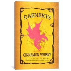 "Mercury Row Daenerys Cinnamon Whisky Vintage Advertisement on Wrapped Canvas Size: 18"" H x 12"" W x 0.75"" D"