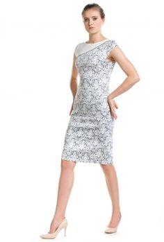 Sukienka koktajlowa asymetryczna MASZA
