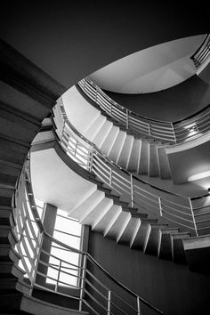 Staircase at the Art Deco Midland Hotel in Morecambe by Jonathan Bean (beanphoto. Hercule Poirot, Midland Hotel, Morecambe, Lancaster, Old Pictures, Art Deco, Blackpool, Etsy Shop, Villas