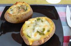 Pommes de terre farcies au four WW, un plat facile et simple à préparer à servir en accompagnement ou en plat principal.