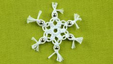 Easy Snowflake with Beads - http://youtu.be/n7OUk3ZXbBU