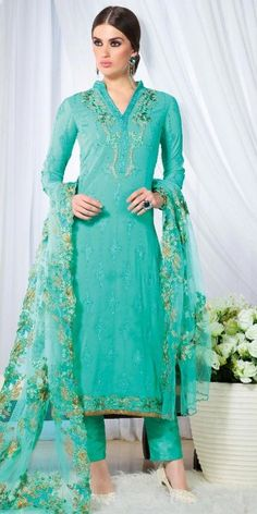 Delightful Green Bhangalpuri Silk Straight Suit With Dupatta.