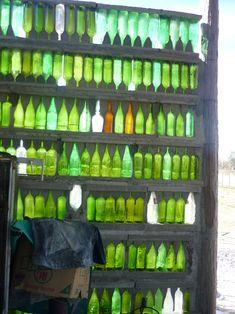 ventanas con botellas de vidrio - Buscar con Google