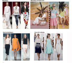 My favourite styles of Spring Summer 2014 COLLECTION apparel, shoes and make up by Moschino, Moschino Cheap & Chic, Narciso Rodriguez, Oscar de la Renta  ------- i miei preferiti della COLLEZIONE moda Primavera Estate 2014 abbigliamento scarpe accessori e trucco